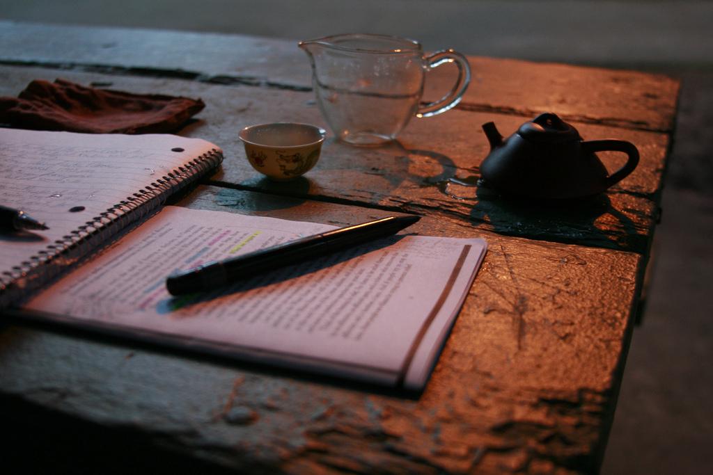 Tea Time, Writing, Morning