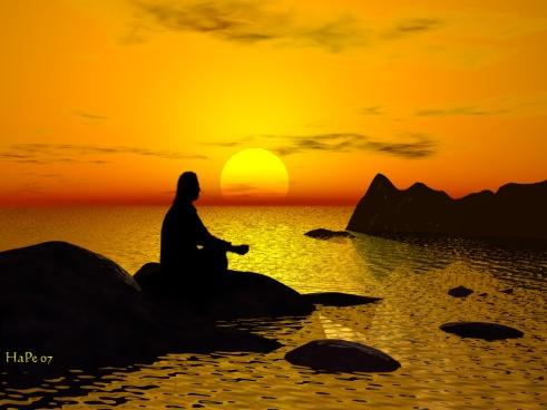 Meditation, Peace, Sunset, Sunrise, Serene, Peace, Calm