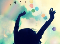 Colours, Colors, Joy, Happiness, Optimism, Birds, Sky, Balloons