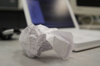 frustration, crumpled, balled up piece of paper, balled up paper, crumpled paper