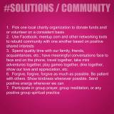 Solutions, Community, Togetherness, Friends, Family, Spending Time Together, Having Real Conversations, Loving One Another, Love, Peace, Helping Each Other, Help Somebody